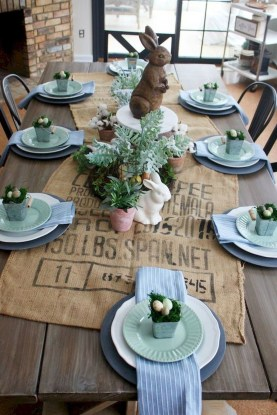Superb Easter Table Decoration Ideas To Give Your Tablescape A Festive Vibe 06
