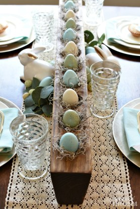 Superb Easter Table Decoration Ideas To Give Your Tablescape A Festive Vibe 07