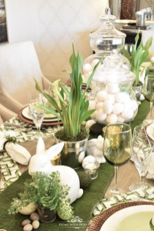 Superb Easter Table Decoration Ideas To Give Your Tablescape A Festive Vibe 11