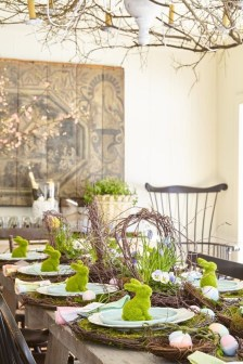 Superb Easter Table Decoration Ideas To Give Your Tablescape A Festive Vibe 13