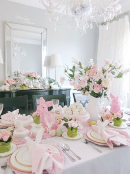 Superb Easter Table Decoration Ideas To Give Your Tablescape A Festive Vibe 15