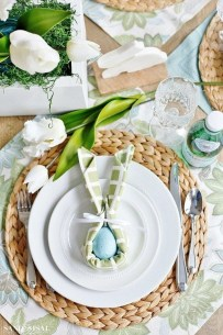 Superb Easter Table Decoration Ideas To Give Your Tablescape A Festive Vibe 21