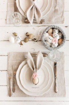 Superb Easter Table Decoration Ideas To Give Your Tablescape A Festive Vibe 24