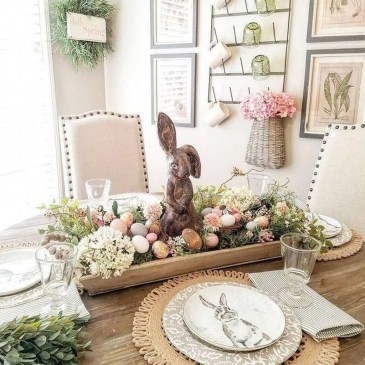 Superb Easter Table Decoration Ideas To Give Your Tablescape A Festive Vibe 27