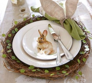 Superb Easter Table Decoration Ideas To Give Your Tablescape A Festive Vibe 47