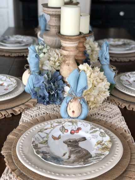 Superb Easter Table Decoration Ideas To Give Your Tablescape A Festive Vibe 49