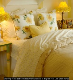Charming Yellow Bedroom Ideas Are Guaranteed To Brighten Your Little One's Day 22