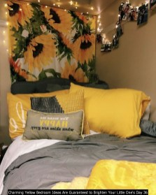 Charming Yellow Bedroom Ideas Are Guaranteed To Brighten Your Little One's Day 36