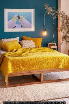Charming Yellow Bedroom Ideas Are Guaranteed To Brighten Your Little One's Day 45
