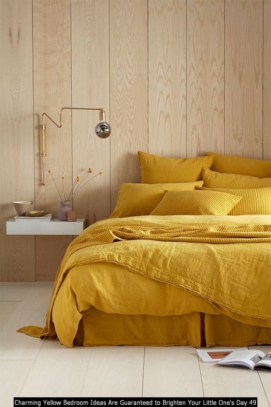 Charming Yellow Bedroom Ideas Are Guaranteed To Brighten Your Little One's Day 49