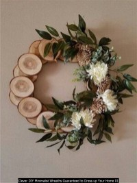 Clever DIY Minimalist Wreaths Guaranteed To Dress Up Your Home 01