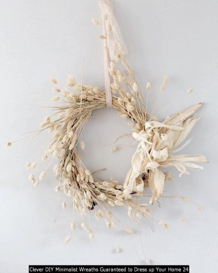 Clever DIY Minimalist Wreaths Guaranteed To Dress Up Your Home 24