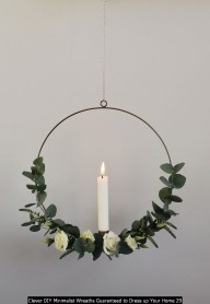 Clever DIY Minimalist Wreaths Guaranteed To Dress Up Your Home 29