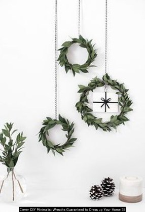 Clever DIY Minimalist Wreaths Guaranteed To Dress Up Your Home 35