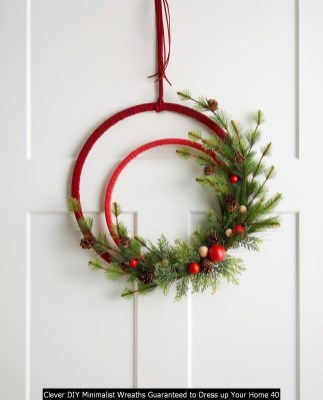 Clever DIY Minimalist Wreaths Guaranteed To Dress Up Your Home 40