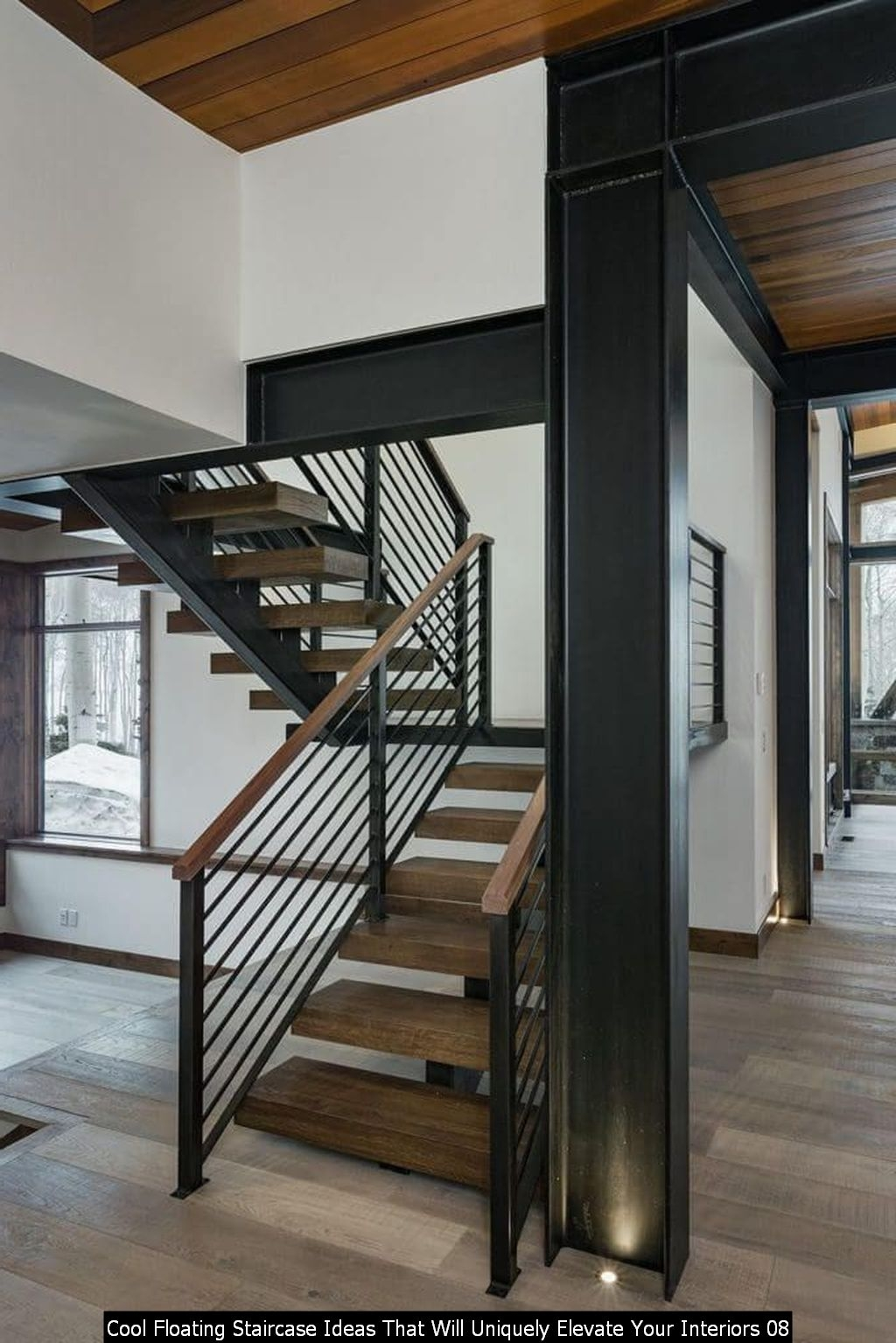 Cool Floating Staircase Ideas That Will Uniquely Elevate Your Interiors 08