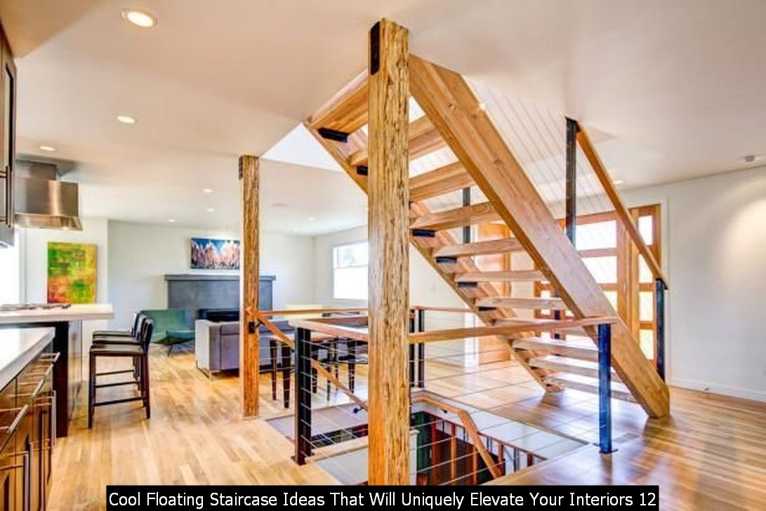 Cool Floating Staircase Ideas That Will Uniquely Elevate Your Interiors 12