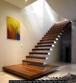 Cool Floating Staircase Ideas That Will Uniquely Elevate Your Interiors 23
