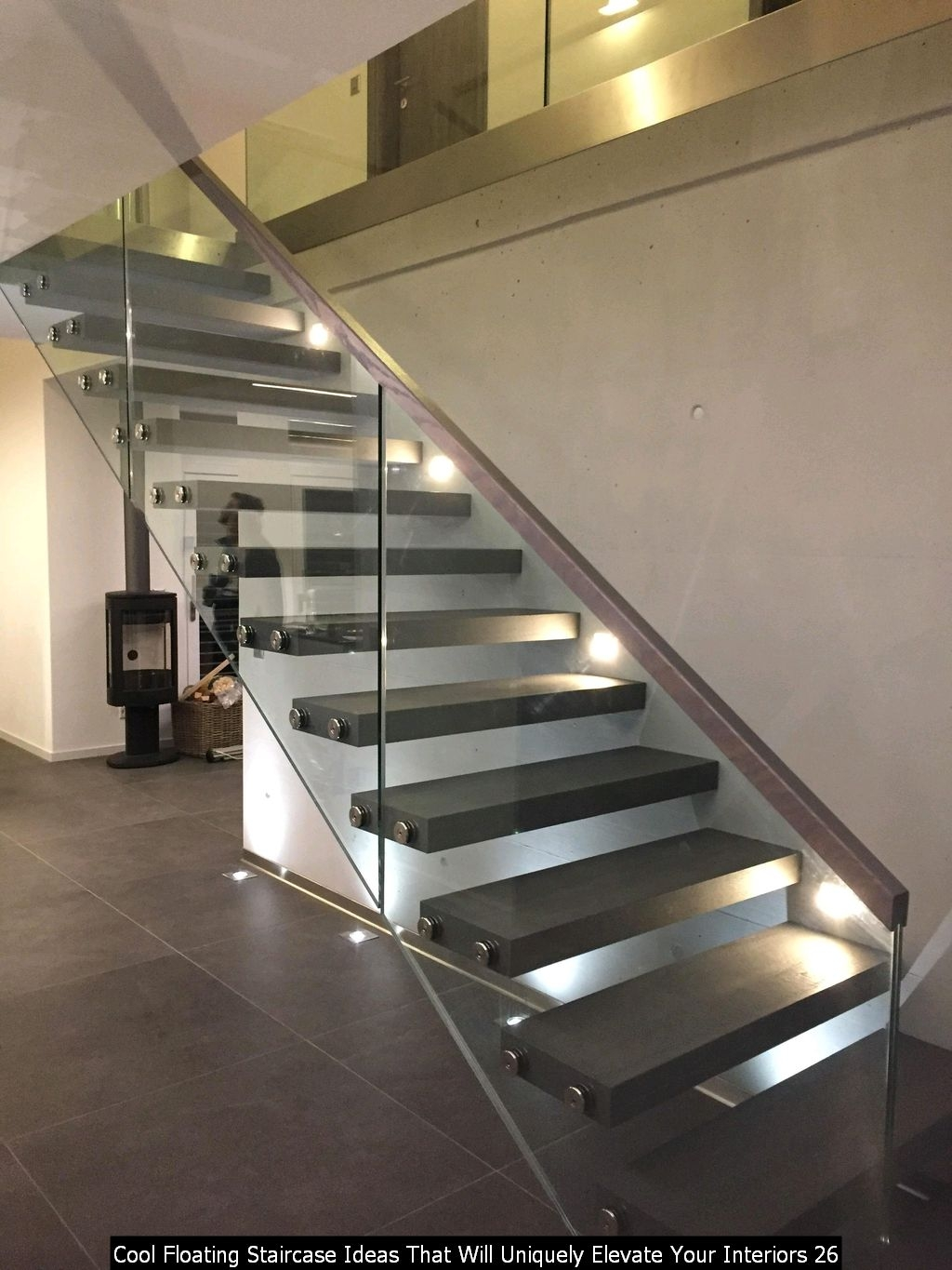 Cool Floating Staircase Ideas That Will Uniquely Elevate Your Interiors 26