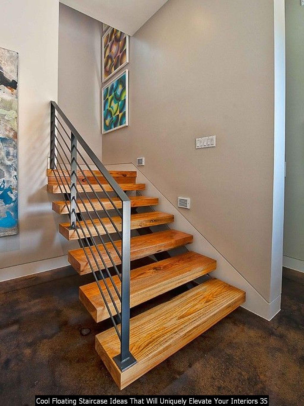 Cool Floating Staircase Ideas That Will Uniquely Elevate Your Interiors 35