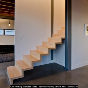 Cool Floating Staircase Ideas That Will Uniquely Elevate Your Interiors 39