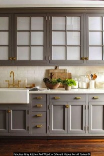 Fabulous Gray Kitchen And Wood In Different Models For All Tastes 04
