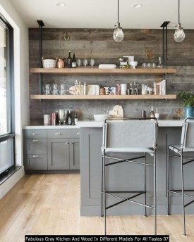Fabulous Gray Kitchen And Wood In Different Models For All Tastes 07