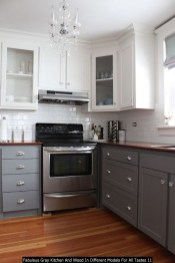 Fabulous Gray Kitchen And Wood In Different Models For All Tastes 11