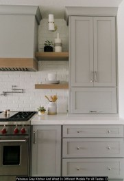 Fabulous Gray Kitchen And Wood In Different Models For All Tastes 13