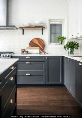 Fabulous Gray Kitchen And Wood In Different Models For All Tastes 17