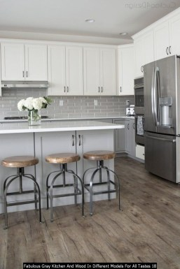 Fabulous Gray Kitchen And Wood In Different Models For All Tastes 18