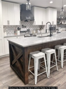 Fabulous Gray Kitchen And Wood In Different Models For All Tastes 23
