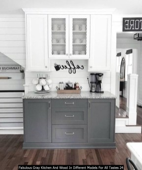 Fabulous Gray Kitchen And Wood In Different Models For All Tastes 24