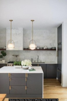 Fabulous Gray Kitchen And Wood In Different Models For All Tastes 26