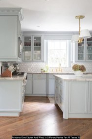Fabulous Gray Kitchen And Wood In Different Models For All Tastes 31