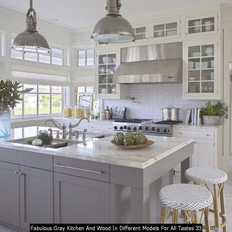 Fabulous Gray Kitchen And Wood In Different Models For All Tastes 33