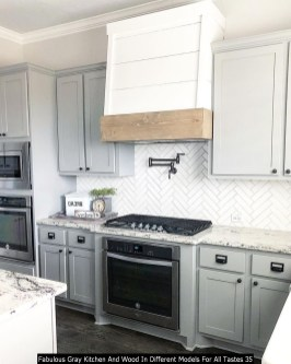 Fabulous Gray Kitchen And Wood In Different Models For All Tastes 35