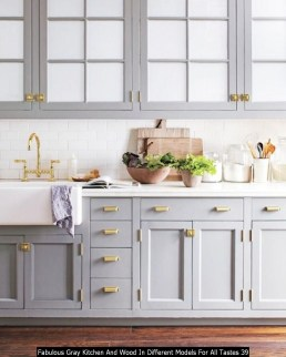 Fabulous Gray Kitchen And Wood In Different Models For All Tastes 39