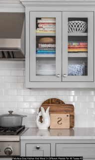 Fabulous Gray Kitchen And Wood In Different Models For All Tastes 40