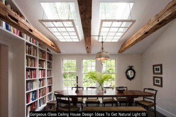 Gorgeous Glass Ceiling House Design Ideas To Get Natural Light 05