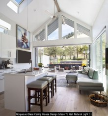 Gorgeous Glass Ceiling House Design Ideas To Get Natural Light 11
