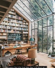 Gorgeous Glass Ceiling House Design Ideas To Get Natural Light 12