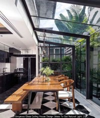 Gorgeous Glass Ceiling House Design Ideas To Get Natural Light 13