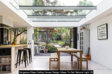 Gorgeous Glass Ceiling House Design Ideas To Get Natural Light 20