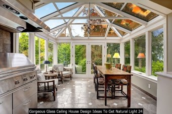Gorgeous Glass Ceiling House Design Ideas To Get Natural Light 24