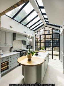 Gorgeous Glass Ceiling House Design Ideas To Get Natural Light 40