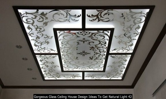 Gorgeous Glass Ceiling House Design Ideas To Get Natural Light 42