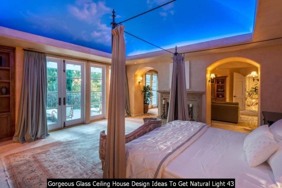 Gorgeous Glass Ceiling House Design Ideas To Get Natural Light 43
