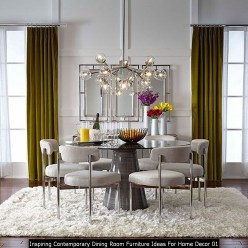Inspiring Contemporary Dining Room Furniture Ideas For Home Decor 01