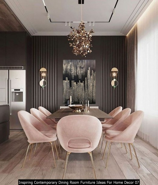 Inspiring Contemporary Dining Room Furniture Ideas For Home Decor 07